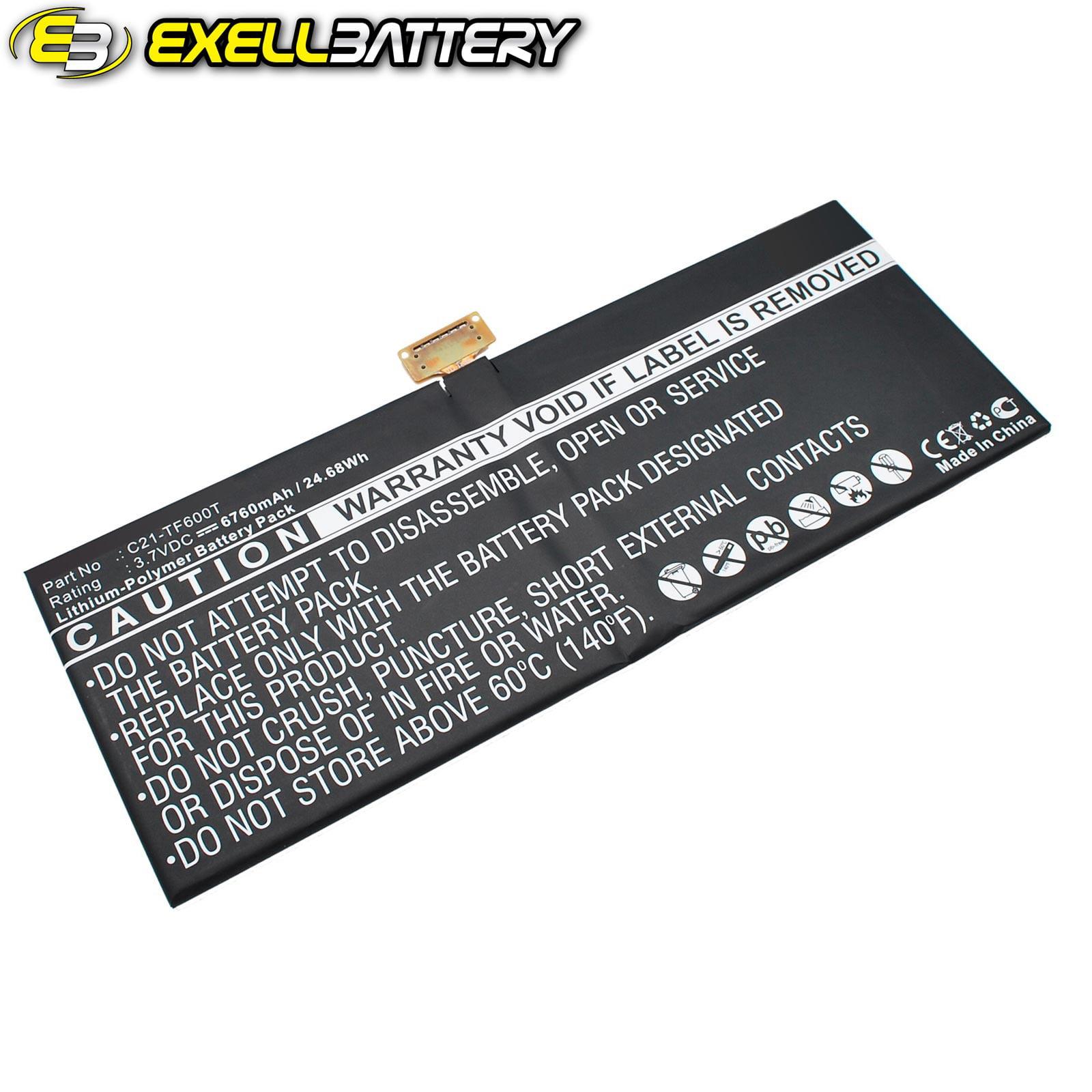 Exell Li-Poly 3.7V Battery Fits ASUS VivoTab TF600TL Tabl...