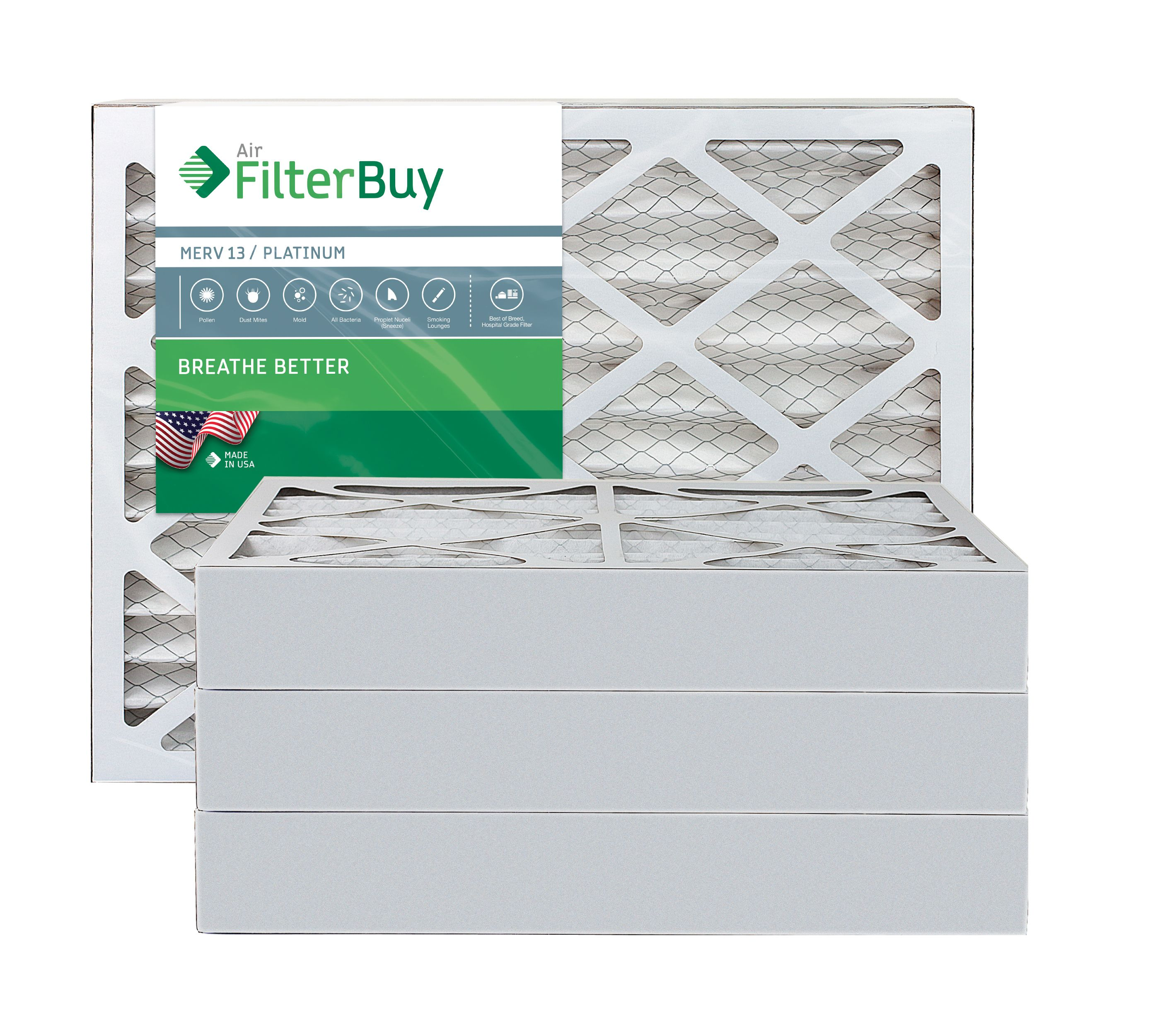 6 Pack 18x20x4 Ultimate Allergen Merv 13 Replacement AC Furnace Air Filter