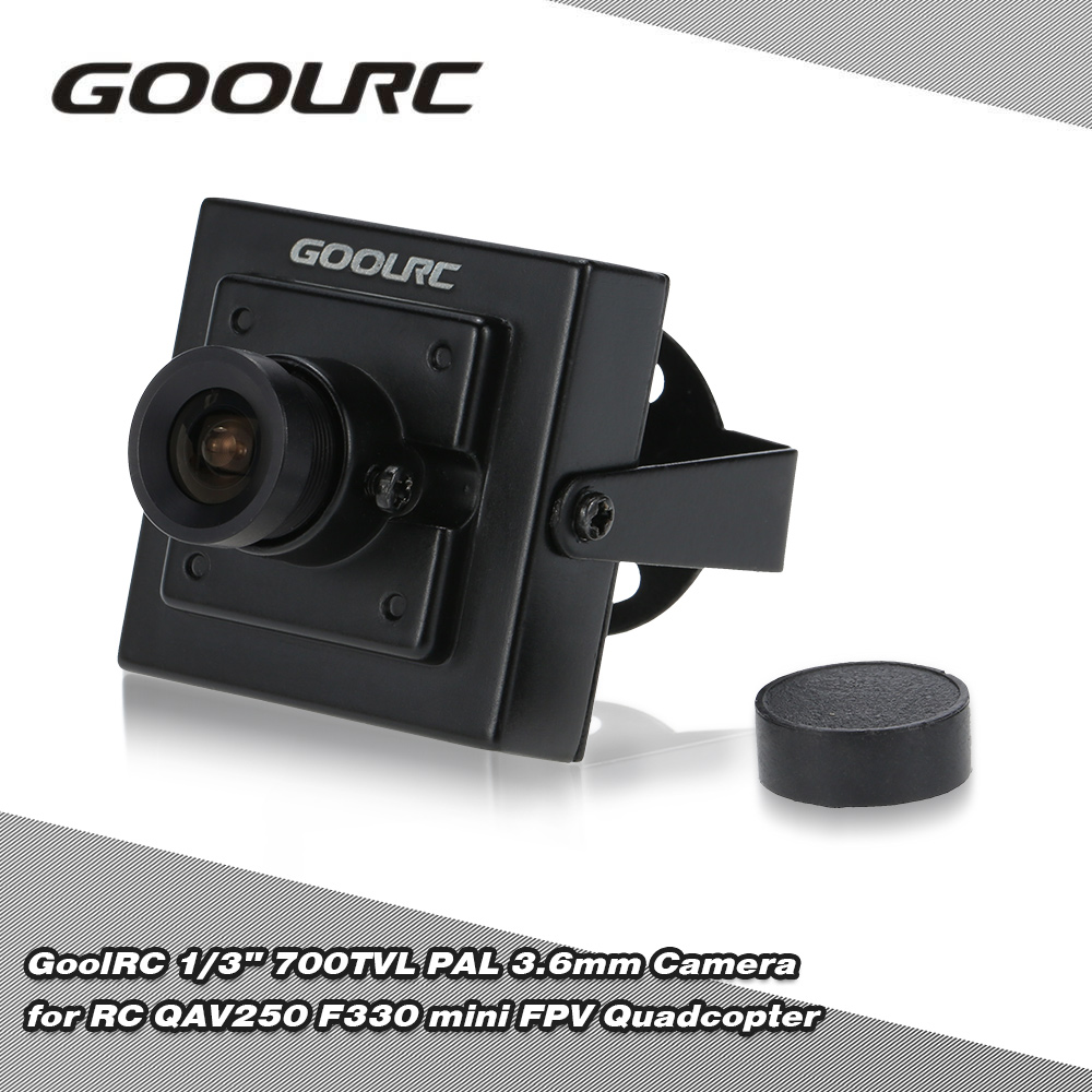 "GoolRC 1/3"" 700TVL PAL 3.6mm Mini Camera for RC QAV250 F330 mini FPV Quadcopter"