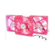 Apevia CF312SL-URD 120mm Red LED 120mm UV Cooling Fan (3 in 1 pack)