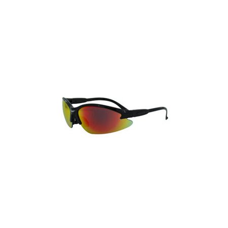 Global Vision Eyewear Coubkgtr Cougar G Tech Safety Glasses With Red Lenses And Black Frame