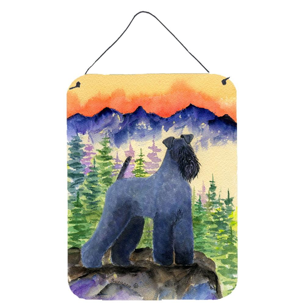 Kerry Blue Terrier Aluminium Metal Wall or Door Hanging Prints