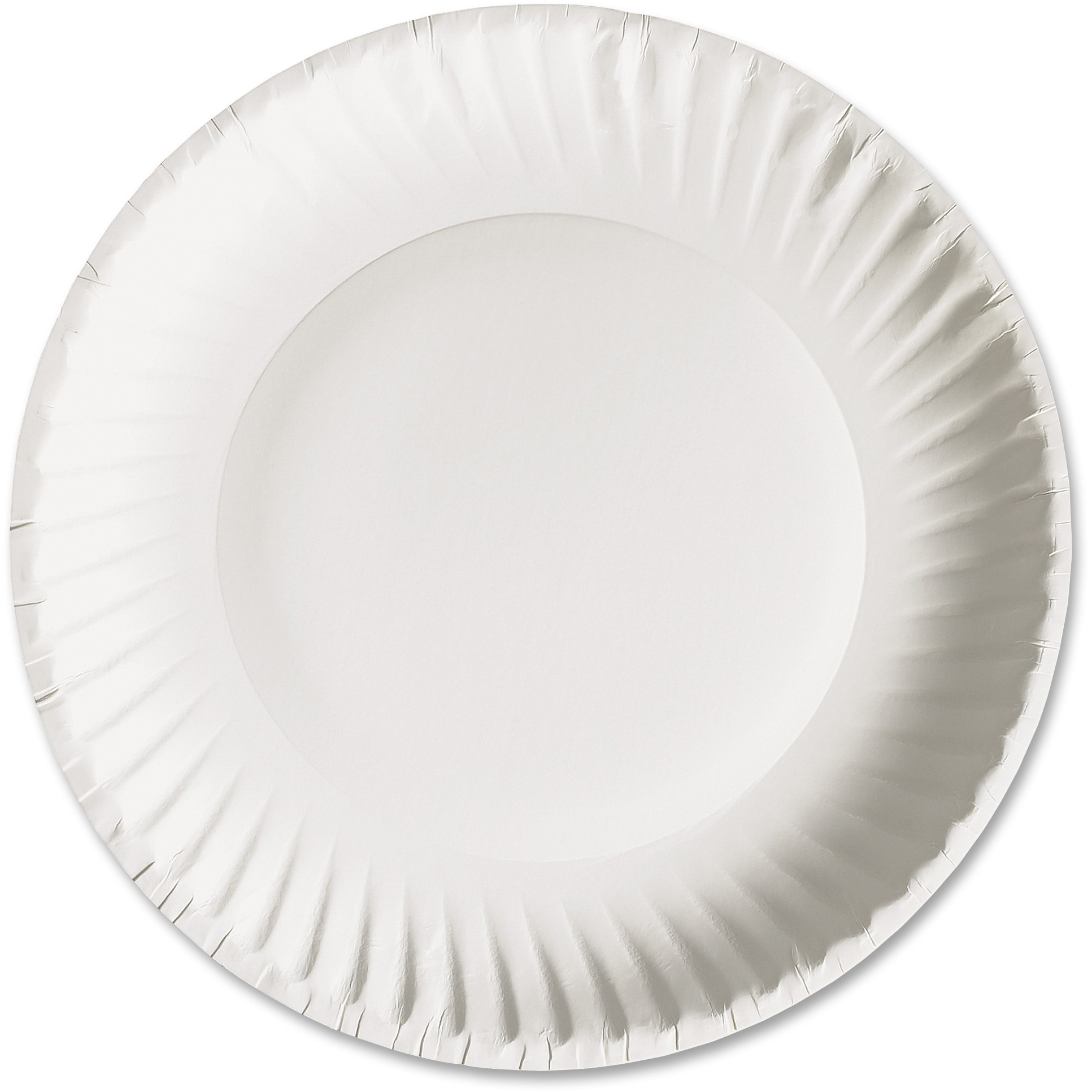 "AJM Packaging Corporation White Paper Plates, 9"" Diameter, 100/bag, 10 Bags/carton"