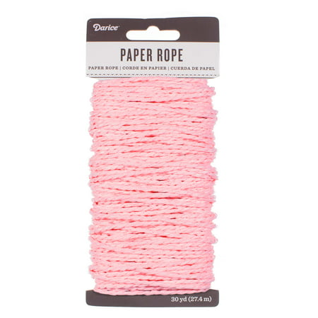 Craft County Paper Rope 3mm Diameter of Decorative Cord - 30 Yards (27.4 Meters) per Spool - Multiple Color Options for Crafting, Scrapbooking, DIY Decor, and More ()
