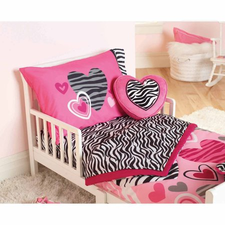Garanimals Zebra Hearts 4-Piece Toddler Bedding Set - Walmart.com