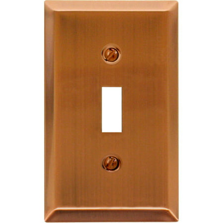 Elumina Traditional Steel Wall Plate, Antique Copper