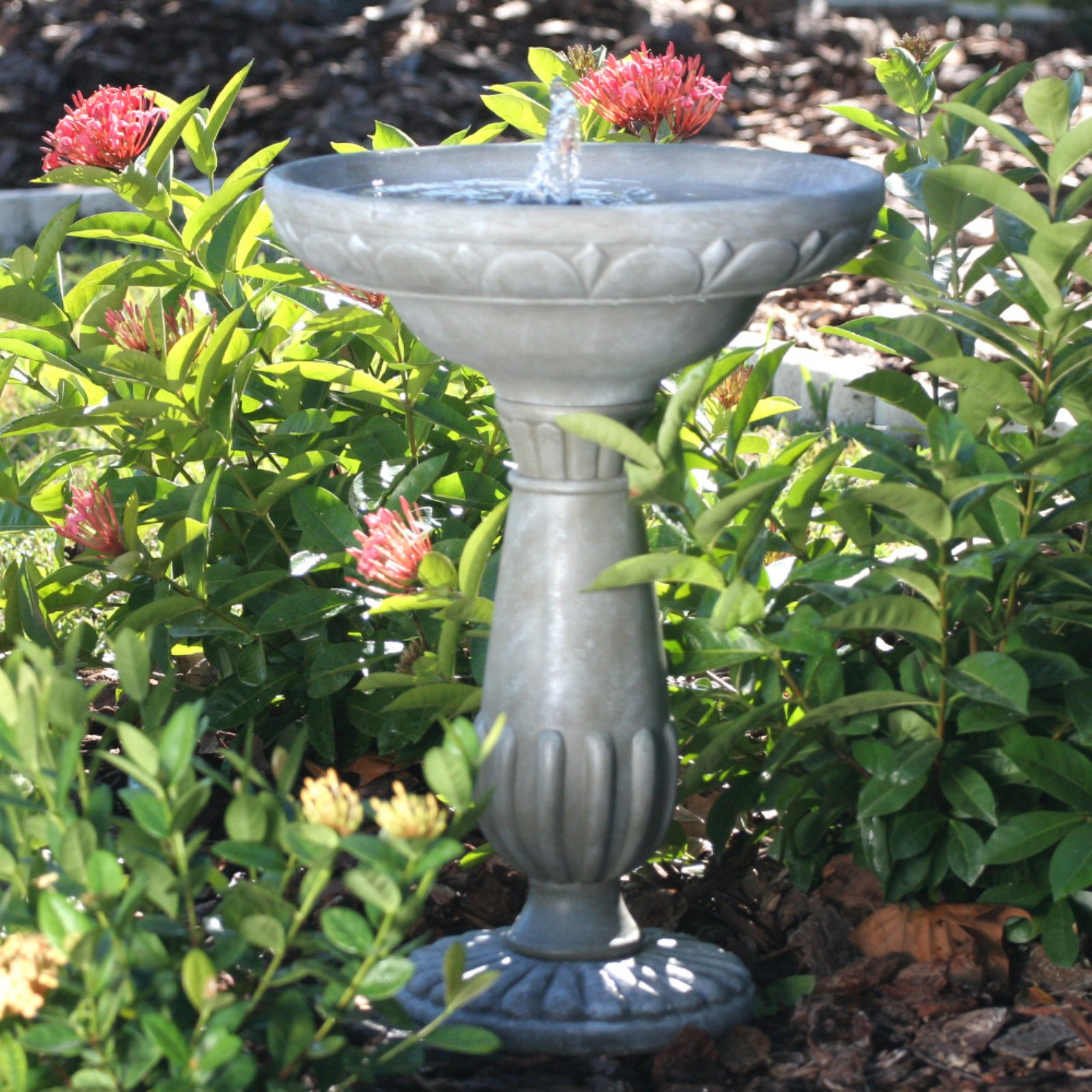 Smart Solar Portsmouth Solar Birdbath Fountain by