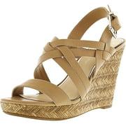 Jessica Simpson Women's Julita Ambra Ankle-High Leather Wedged Sandal - 10M