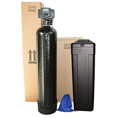 ABCwaters Built Fleck 5600sxt 48,000 Water Softener SPACE SAVER Black + Hardness Test + Install