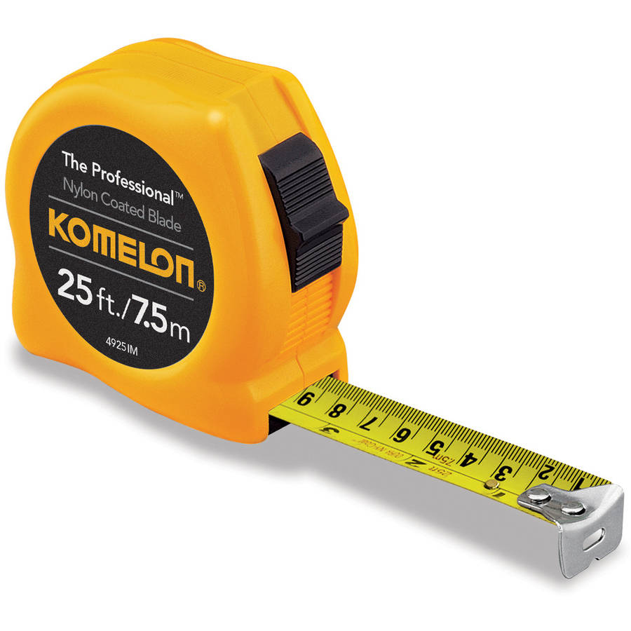 Komelon 25'/7.5m Professional Inch/Metric Tape Measure