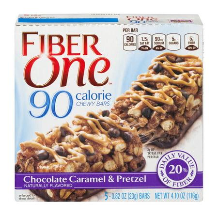 Fiber One 90 Calorie Bar Chocolate Caramel And Pretzel 5   0 82 Oz Bars