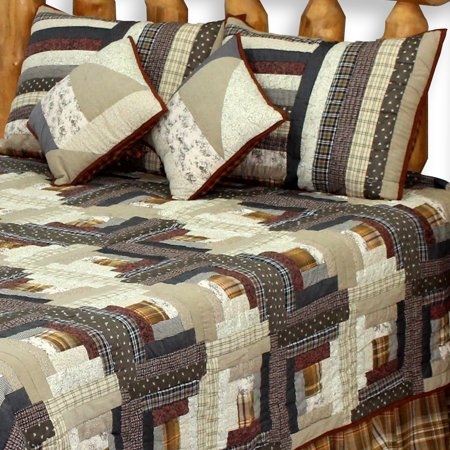 Express Log Cabin Twin Quilt 65
