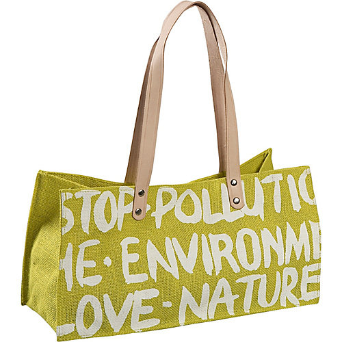 Earth Axxessories Stop Pollution Jute Bag