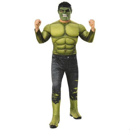 Marvel Avengers Infinity War Deluxe Mens Hulk Halloween Costume - Funny Easy Mens Halloween Costumes