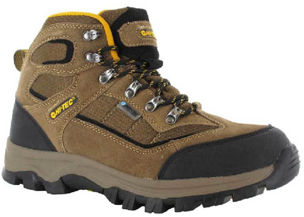 Hi-Tec Kids 31436 Hillside Waterproof Jr Suede Boots Brown Orange by Hi-Tec
