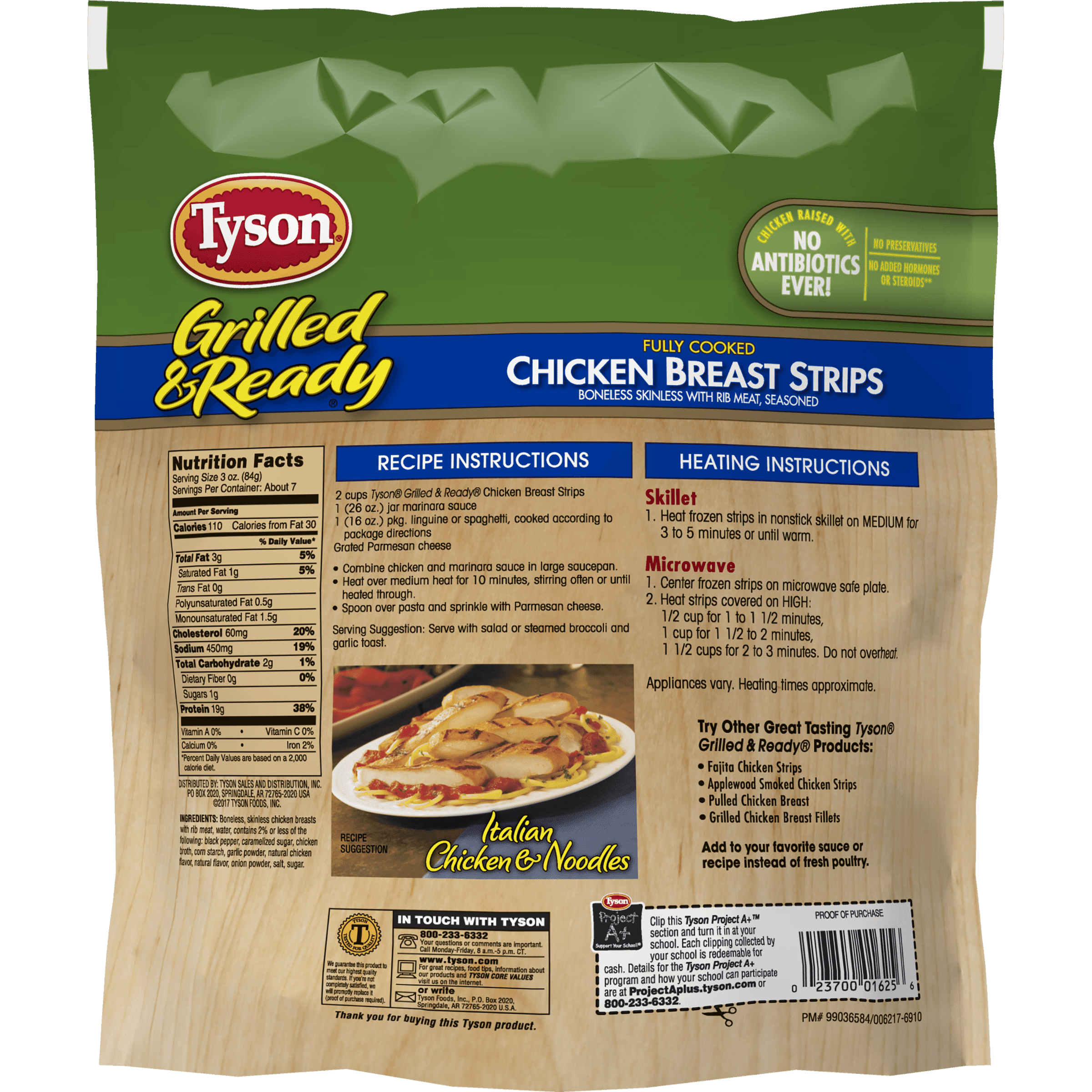 Tyson Grilled Ready Fully Cooked Grilled Chicken Breast Strips