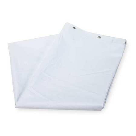 4EEY4 Nylon Shower Curtain, White