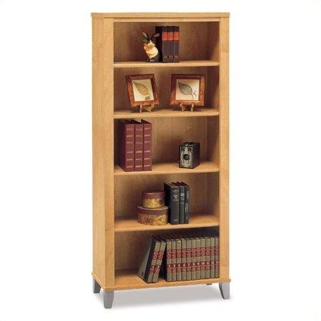 Scranton & Co 5 Shelf Wood Bookcase in Maple Cross
