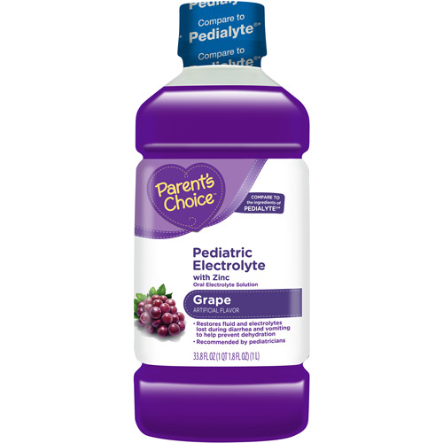 Parent's Choice - Pediatric Electrolyte Drink, Grape Flavored, 1 liter