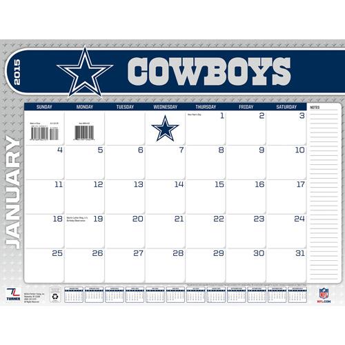 Dallas Cowboys 2015 22 X 17 Desk Calendar Walmart Com