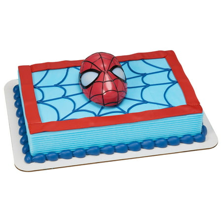 Full Yellow Whipped Cake With Spiderman Kit And Frosting