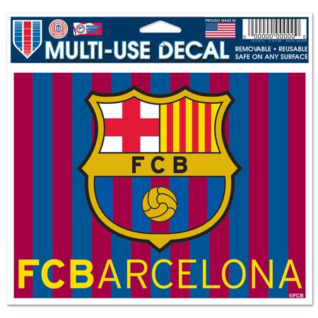 Barcelona Car - FC Barcelona Official EUROPE 4 inch x 6 inch  Car Window Cling Decal by WinCraft