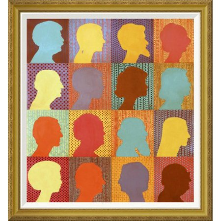 global gallery checkerboard people by john newcomb framed wall art