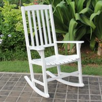 Cambridge Casual Wood Slat Back Outdoor Rocking Chair