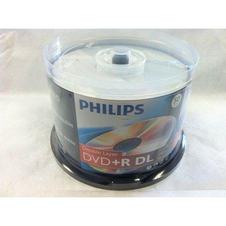 100 Philips Logo Blank DVD+R DVDR Dual Double Layer DL Disc Media 8.5GB Cake Box
