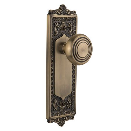 Nostalgic Warehouse Deco Door Knob with Egg and Dart Plate