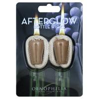 Oenophilia Afterglow Bottle Wicks, Beige - Set of 2
