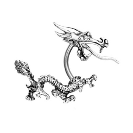 Barbell Head - Dragon Curved Barbell With Top Head And Bottom Tail