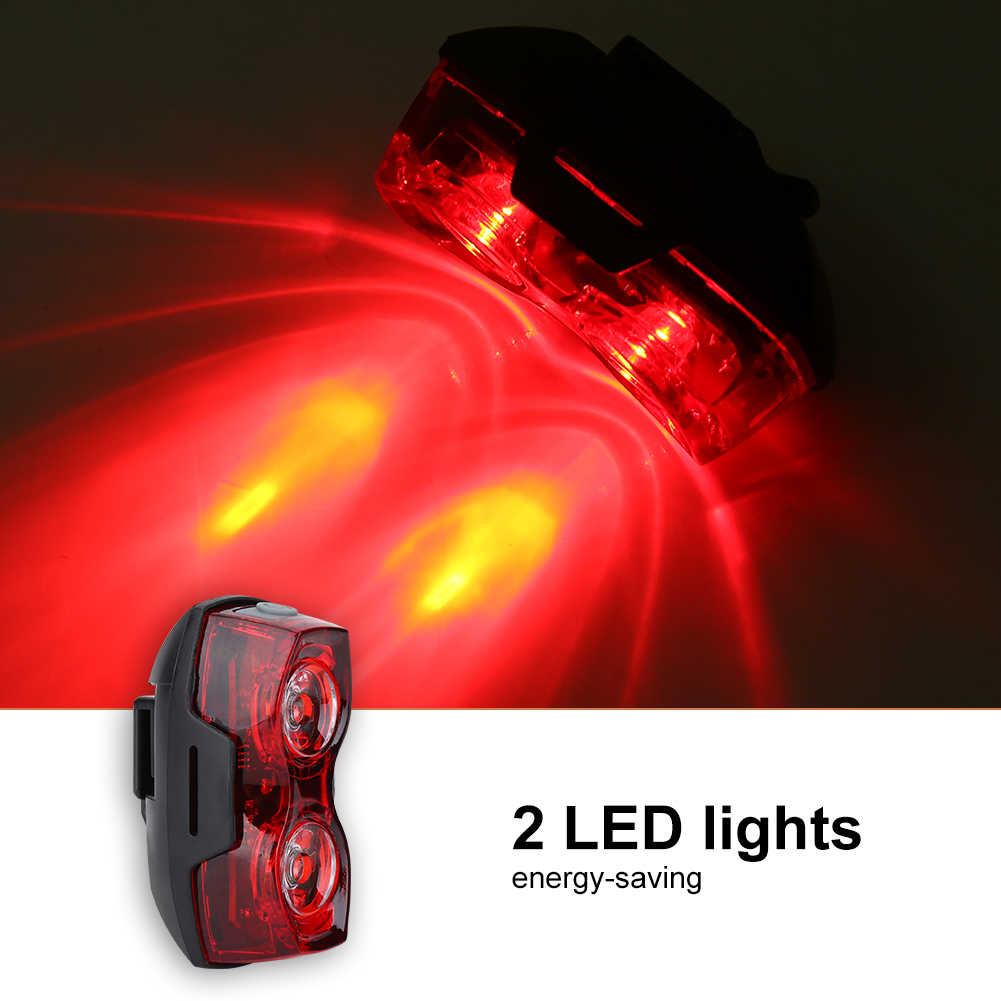 Bike Tail BACK STOP Light Red LED Safety Flashing Cycle Rear Back Lamp Durable