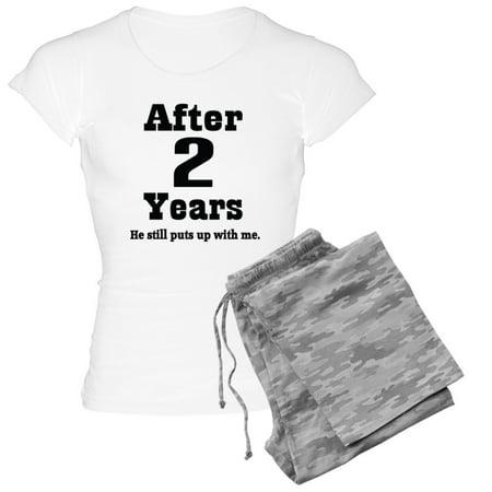 44ccce7dc0 CafePress - 2Nd Anniversary Funny Quote - Women's Light Pajamas -  Walmart.com