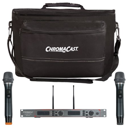 chromacast pro series dual channel uhf wireless microphone system with musician 39 s gear bag. Black Bedroom Furniture Sets. Home Design Ideas