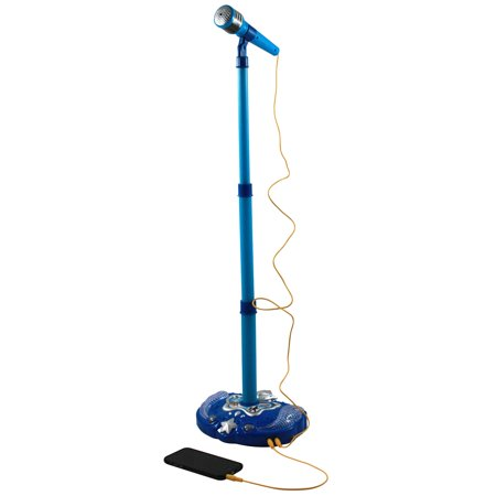 Super Star Kids IPhone Android MP3 Supported Karaoke Stand and Microphone - Blue - Rock Star Microphone