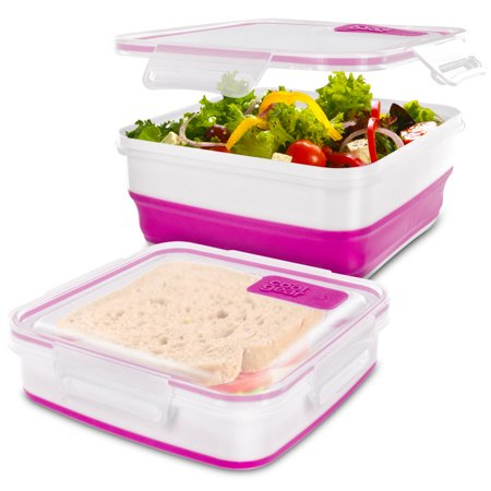 Cool Gear Expandable Air Tight Food Lunch Box Container 6.25 CUP BPA-free Pink - Cool Halloween Food Names