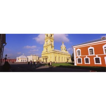 Low angle view of a cathedral Peter and Paul Cathedral Peter and Paul Fortress St Petersburg Russia Poster (Peter And Paul Cathedral St Petersburg Russia)