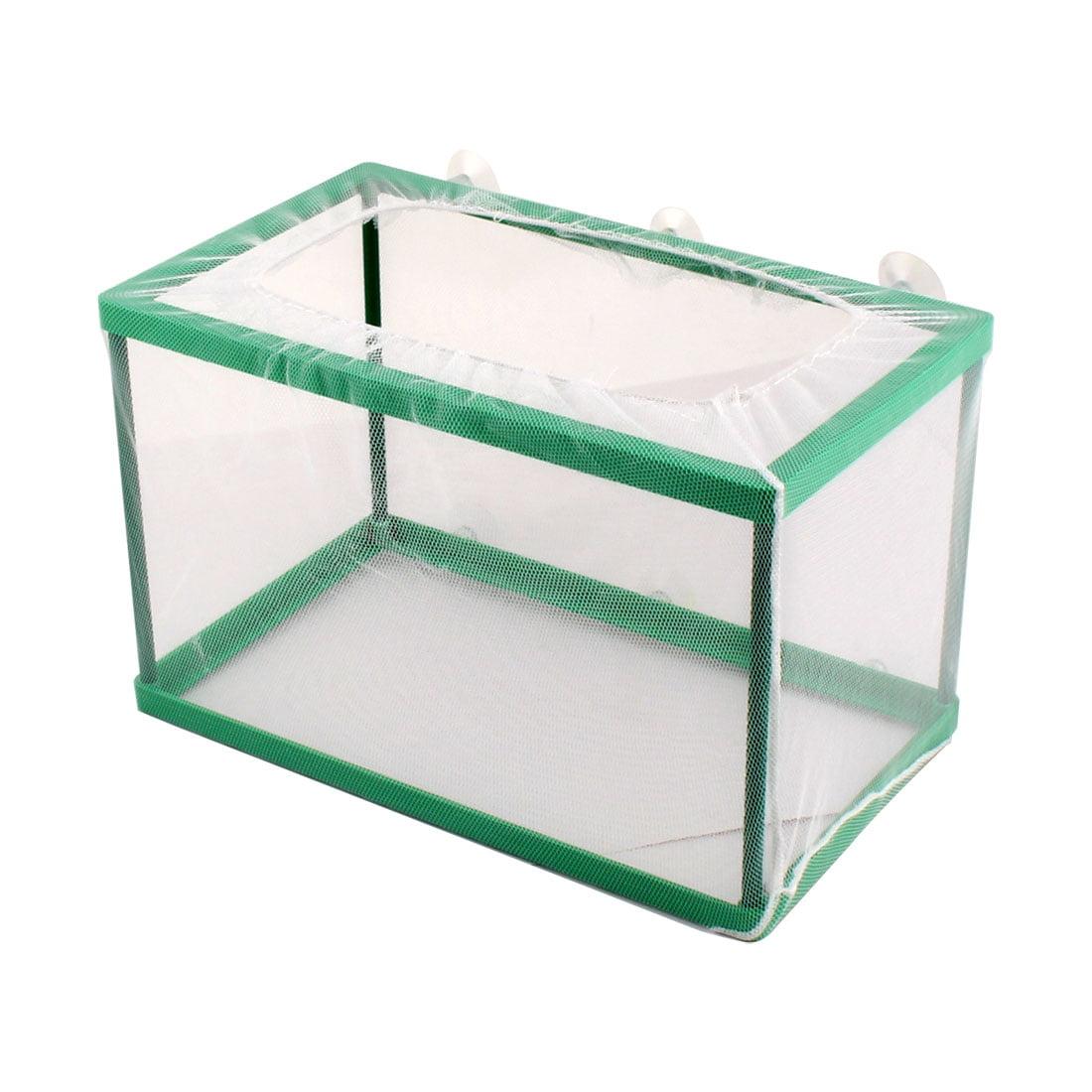 Aquarium Fishbowl Tank Floating Box Fry Shrimp Breeding Cage Net White Green