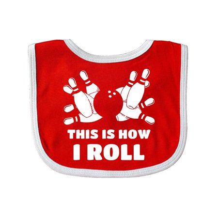 How I Roll Bowling Baby Bib - Bubble Blowing Double Baby