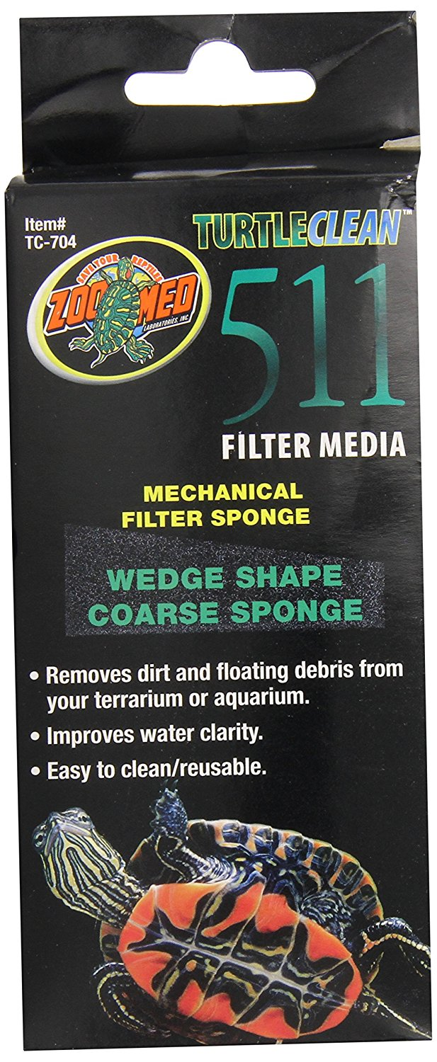 511 Mechanical Filter Sponge Coarse, Improves water clarity By Zoo Med by