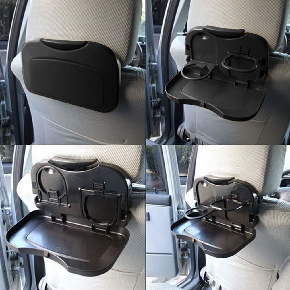 Universal Folding Auto Cup Holder Car Back Seat Table Drink Food Tray Travel Desk Foldable Accessory