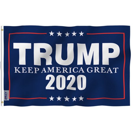 ANLEY Fly Breeze 3x5 Foot Donald Trump 2020 Flag - Vivid Color and UV Fade Resistant - Canvas Header and Double Stitched - KEEP AMERICA GREAT Flags Polyester with Brass Grommets 3 X 5 Ft