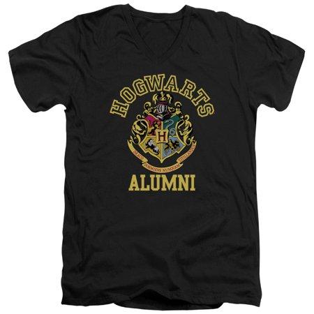 Harry Potter Hogwarts Alumni Short Sleeve Adult V Neck Black](Hogwarts Tie)