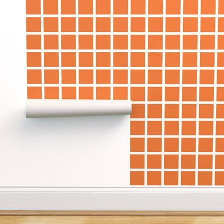 Halloween The Movie Wallpaper (Removable Water-Activated Wallpaper Grid Orange Halloween Stripe)