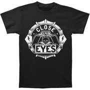 Close Your Eyes Men's  Bat T-shirt Black
