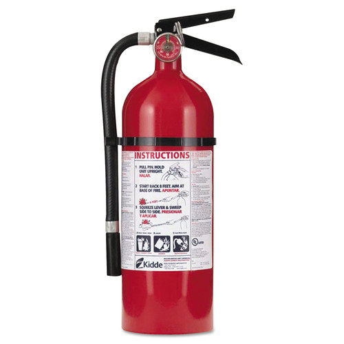 Kidde Pro 2-A:10-B:C Rechargeable Fire Extinguisher