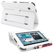 Snugg B00CM57LOY Galaxy Tab 2 7. 0 Case Cover and Flip Stand, White Leather