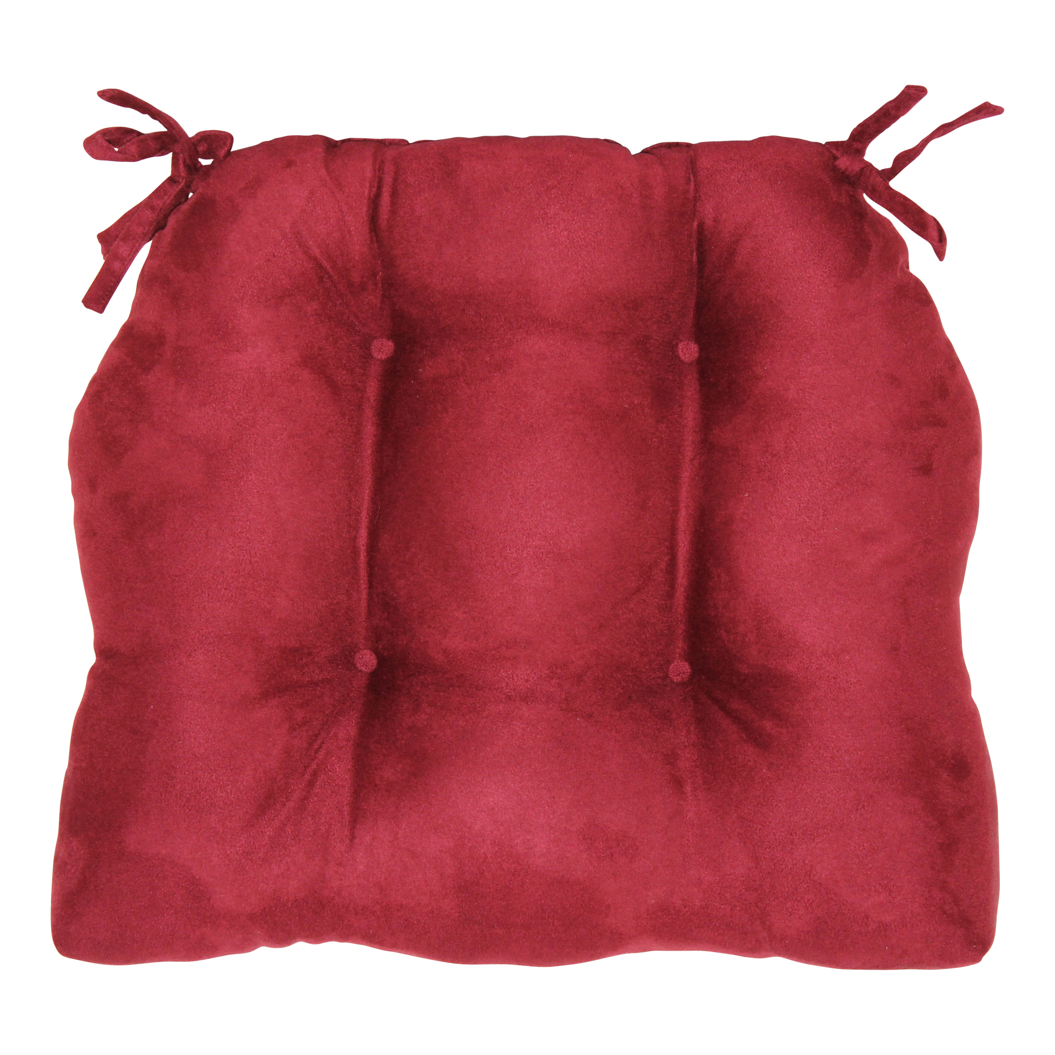 """Brentwood Originals Faux Suede Chair Pad, 16""""L x 14.5"""" W, Mulberry"""