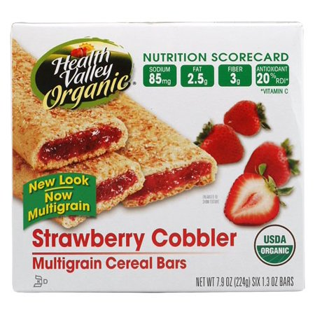 Health Valley Cereal Bar, Strawberry Cobbler, 1.3 Oz, 6